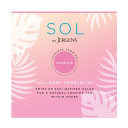 6 Count SOL by Jergens Full Body Self Tanner Towelettes Infused with Coconut Water and Vitamin E | Walmart (US)