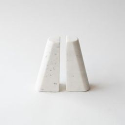 White Marble Bookend Set | Stoffer Home