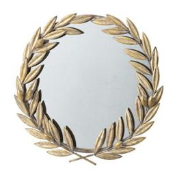 """22.25"""" Gold and Clear Laurel Wreath Accent Wall Mirror   Walmart (US)"""