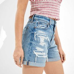 AE Denim Baggy Mom Shorts | American Eagle Outfitters (US & CA)