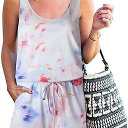 ANRABESS Women's Summer Tank Jumpsuit Casual Loose Sleeveless Beam Foot Elasitic Waist Jumpsuit R...   Amazon (US)