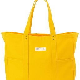 Large Womens Tote Bag, Organic Cotton With Pockets for Teachers, Laptop, Books, Gym, Travel, Beac... | Amazon (US)