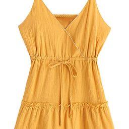 ZAFUL Women's Mini Dress Spaghetti Straps Sleeveless Boho Beach Dress | Amazon (US)