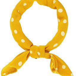 Allegra K 50cm 1950s Vintage Retro Polka Dots Square Scarf Head Neck Scarves Kerchief Neckerchief | Amazon (US)