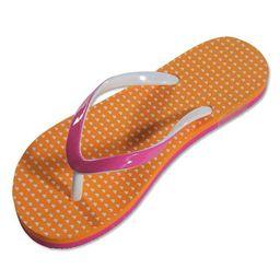 Private Label - Ladies Flip Flop Pink/Orange / S 5-6 | Walmart (US)