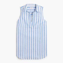 Linen-cotton sleeveless popover tunic top   J.Crew Factory