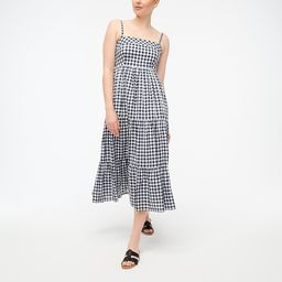 Square-neck tiered dress   J.Crew Factory