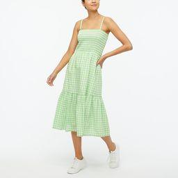 Smocked top midi dress   J.Crew Factory