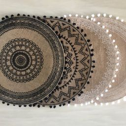 Boho Placemats,Vintage Round Placemats,Waterproof Table Mat,Vintage Placemats,Adorable Dinner Tab...   Etsy (US)