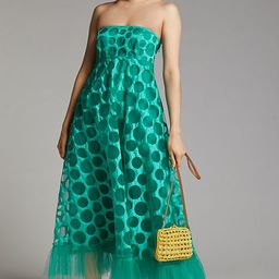 Emerald Tulle Maxi Dress   Anthropologie (US)