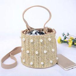 Straw bag,rattan bag,crossbody bag,shoulder bag,handbags,pearl bag,woven bag,basket bag,straw pla... | Etsy (CAD)