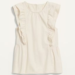 High-Neck Double-Ruffle Flutter-Sleeve Top for Women   Old Navy (US)