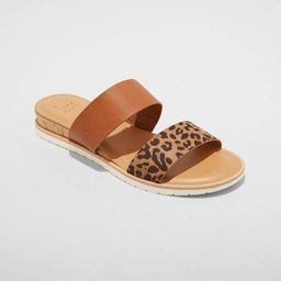 Women's Coco Two Band Slide Sandals - A New Day™   Target