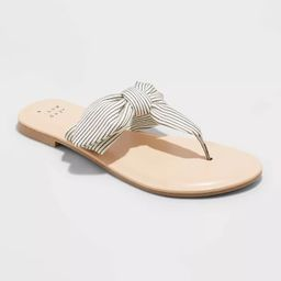 Women's Hannah Knotted Bow Flip Flop Sandals - A New Day™   Target