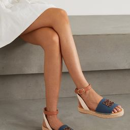 + Paula's Ibiza canvas and leather espadrille sandals   Net-a-Porter (US)