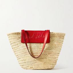 Loubishore woven straw and embossed leather tote   Net-a-Porter (US)