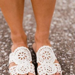 The Lilah Sandals White   The Pink Lily Boutique
