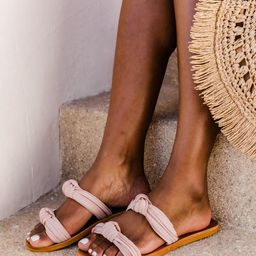 Constance Knotted Blush Sandals   The Pink Lily Boutique