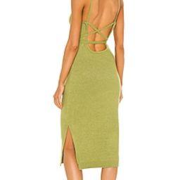 Line & Dot Megan Wrap Dress in Chartreuse from Revolve.com   Revolve Clothing (Global)