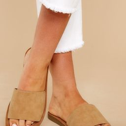 Time In The Sand Camel Slides | Red Dress