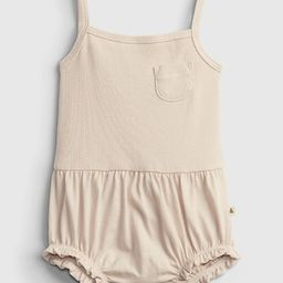 Baby 100% Organic Cotton Ribbed Knit Bubble One-Piece | Gap (US)