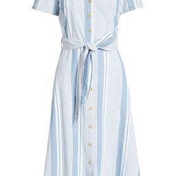 Makela Stripe Cotton Chambray Dress   Nordstrom