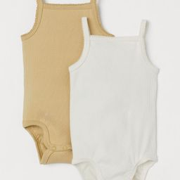 2-pack Ribbed Cotton Bodysuits | H&M (US)