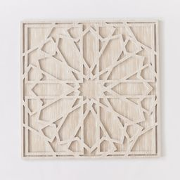 Graphic Wood Wall Art - Whitewashed (Square) | West Elm (US)