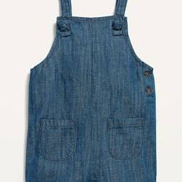 Knotted-Strap Jean Shortalls for Baby | Old Navy (US)