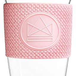 Neon Kactus 16oz/460ml   Hand Blown Borosilicate Glass Reusable Coffee Cup/Travel Mug   Food Grad...   Amazon (CA)