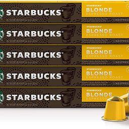 Starbucks by Nespresso Coffee Pods Compatible with Nespresso Original Line Machines 50 Capsules E...   Amazon (CA)