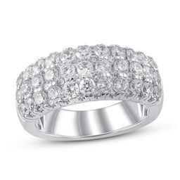 Lab-Created Diamonds by KAY Anniversary Ring 2-1/2 ct tw Round-cut 14K White Gold   Kay Jewelers