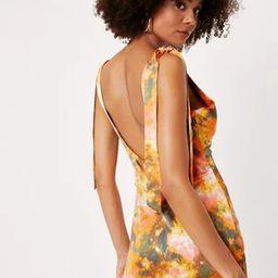 Tie Dye Print Tie Shoulder Maxi Slip Dress | NastyGal