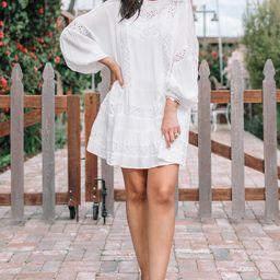 Love Laila Eyelet Mini Dress   Amaryllis Apparel