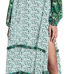 R.Vivimos Women's Long Sleeve Floral Print Bohemian Maxi Dresses with Slit | Amazon (US)