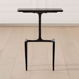 Oxford Black Marble Side Table + Reviews | CB2 | CB2