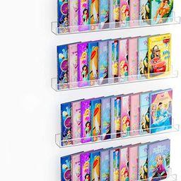 "NIUBEE 36"" Premium Acrylic Floating Nursery Kids Bookshelf Wall Ledge Shelf, Clear Invisible Spic... | Amazon (US)"