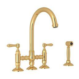 San Julio Bridge Kitchen Faucet With Side Spray | Build.com, Inc.