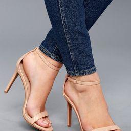Loveliness Light Nude Ankle Strap Heels   Lulus (US)