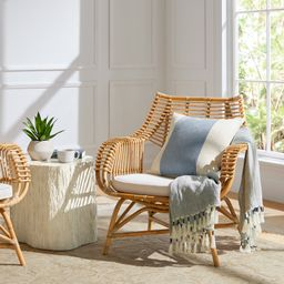 Venice Rattan Chair - Natural   Serena and Lily