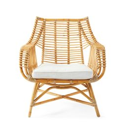 Venice Rattan Chair Cushion - Quick Ship   Serena and Lily