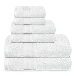 TRIDENT Feather Touch, 100% Cotton, 6 Piece Set, 2 Bath Towels, 2 Hand Towels, and 2 Washcloths, ... | Walmart (US)