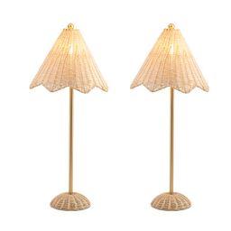 Set Of 2 Rattan Lamps   TJ Maxx