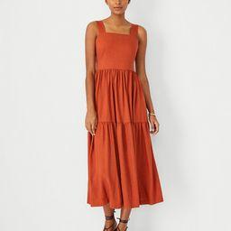 Square Neck Midi Dress   Ann Taylor (US)