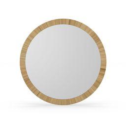 MoDRN Natural Boho Round Rattan Wall Mirror | Walmart (US)