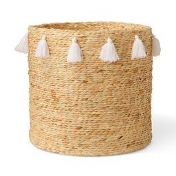 MoDRN Naturals Water Hyacinth Fringe Basket | Walmart (US)