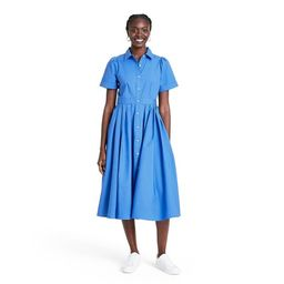 Short Sleeve Shirtdress - ALEXIS for Target Blue | Target
