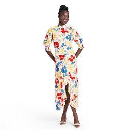 Floral Mock Neck Cascade Ruffle Dress - RIXO for Target Cream | Target