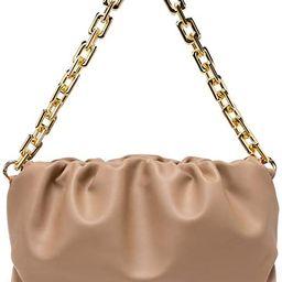Women's Top-handle Bag Dumpling Pouch Large Capacity Chain Shoulder Bag Cloud Tote Handbag and Pu... | Amazon (US)