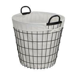 Lined Metal Basket   Wayfair Professional